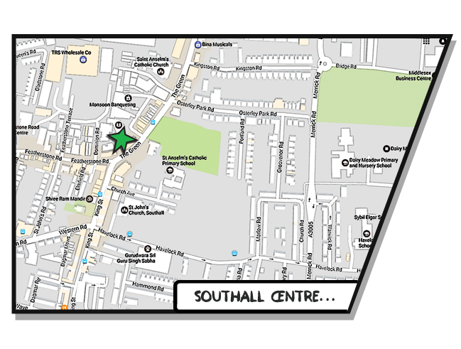 Boost Education Southall Map