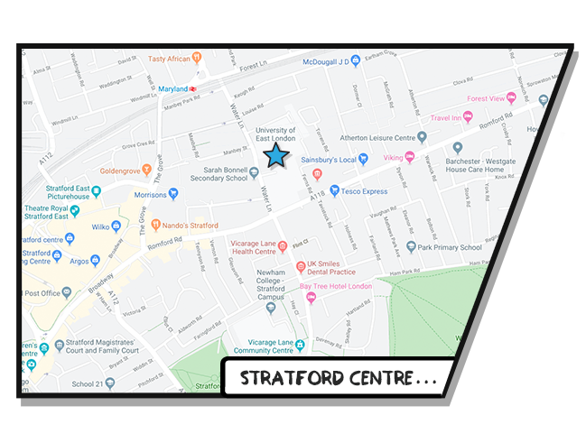 Boost Education Stratford Map