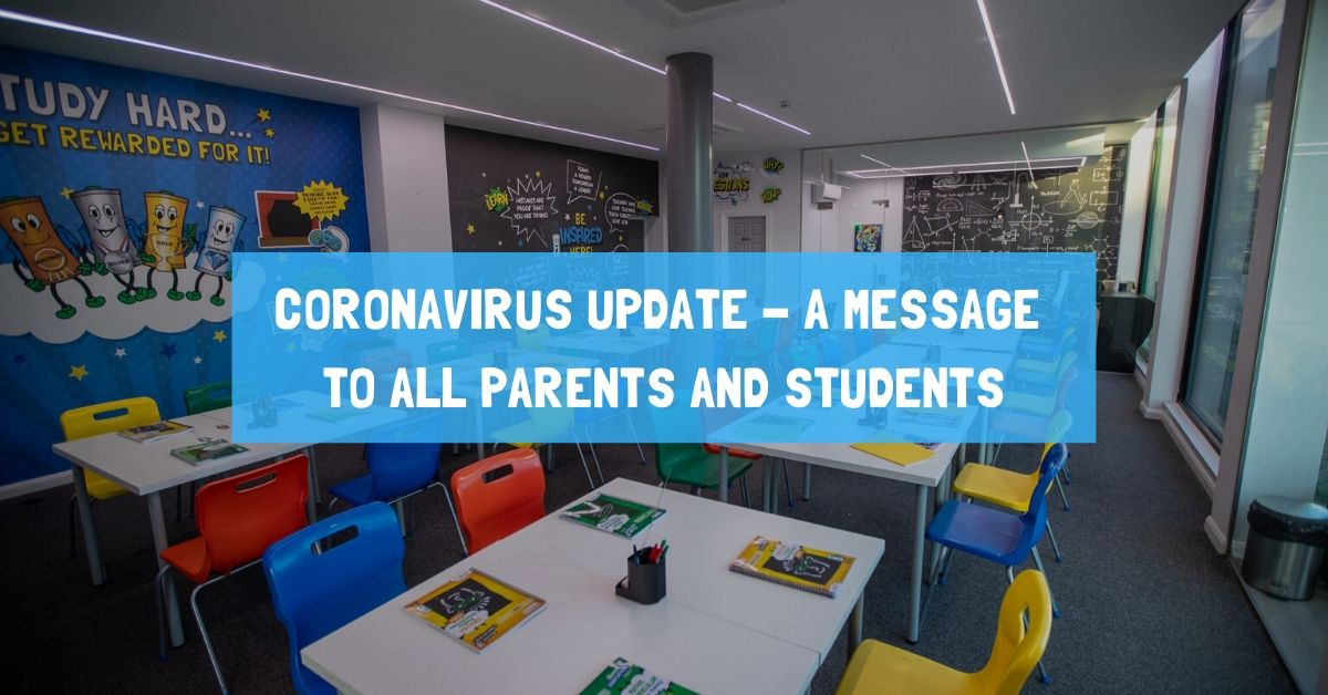 Coronavirus Update - A message to all parents and students