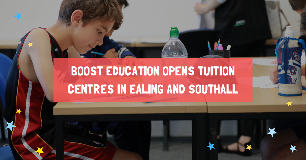 Boost Education is proud to announce the opening of our Ealing and Southall centres